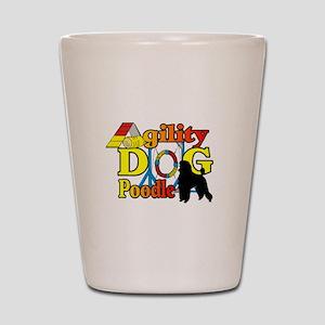 Poodle Agility Shot Glass