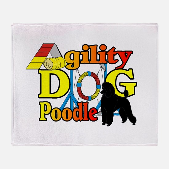 Poodle Agility Throw Blanket