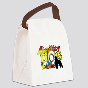 Poodle Agility Canvas Lunch Bag
