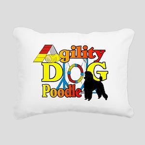 Poodle Agility Rectangular Canvas Pillow