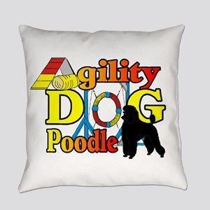 Poodle Agility Everyday Pillow