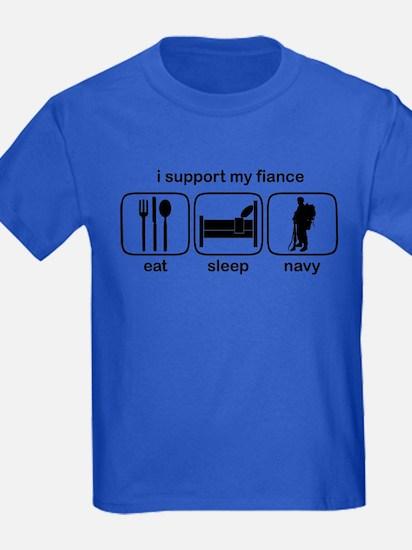 Eat Sleep Navy - Support Fiance T