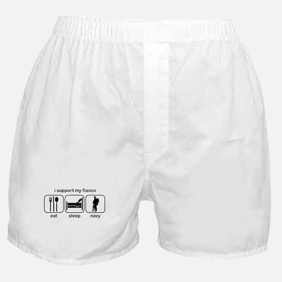 Eat Sleep Navy - Support Fiance Boxer Shorts