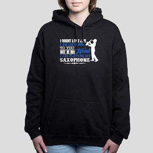 Saxophone In My Head Women's Hooded Sweatshirt