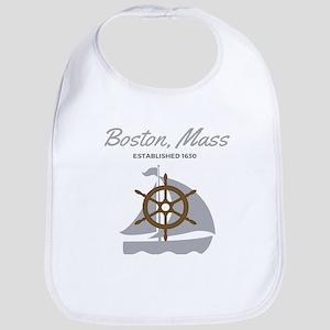 Boston Mass Established 1630 Bib
