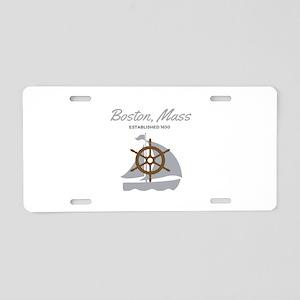 Boston Mass Established Aluminum License Plate