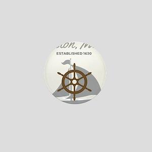 Boston Mass Established 1630 Mini Button