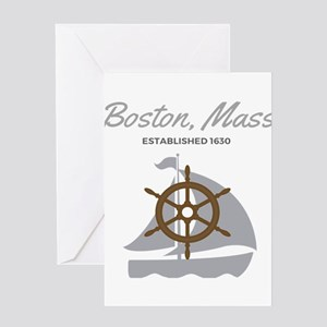 Boston Mass Established 1630 Greeting Cards