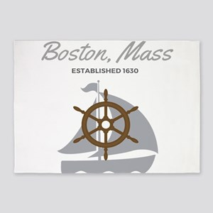 Boston Mass Established 1630 5'x7'Area Rug