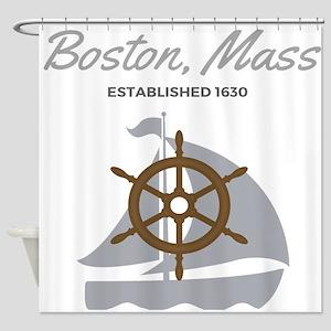 Boston Mass Established 1630 Shower Curtain