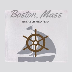 Boston Mass Established 1630 Throw Blanket