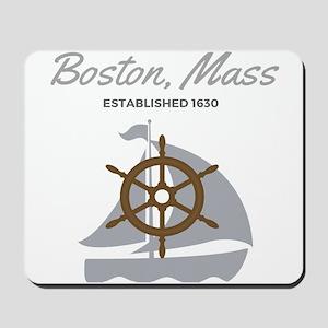 Boston Mass Established 1630 Mousepad