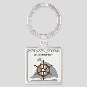 Boston Mass Established 1630 Keychains