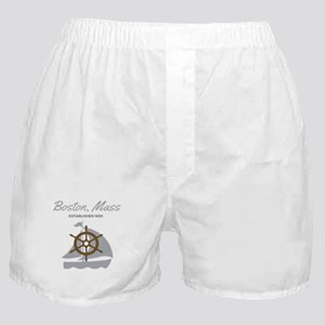 Boston Mass Established 1630 Boxer Shorts