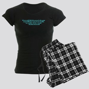 Responsible for trouble Women's Dark Pajamas