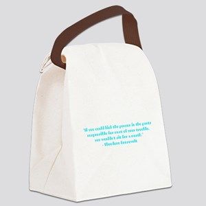 Responsible for trouble Canvas Lunch Bag