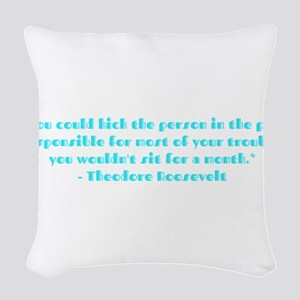 Responsible for trouble Woven Throw Pillow