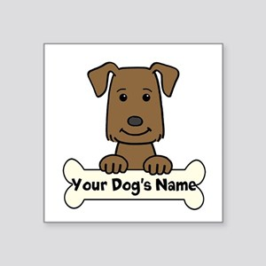 "Personalized Labrador Square Sticker 3"" X 3&q"