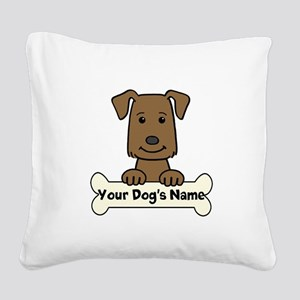 Personalized Labrador Square Canvas Pillow