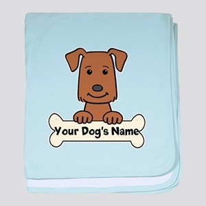 Personalized Labrador baby blanket