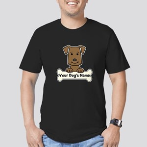 Personalized Labrador Men's Fitted T-Shirt (dark)