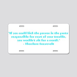 Responsible for trouble Aluminum License Plate