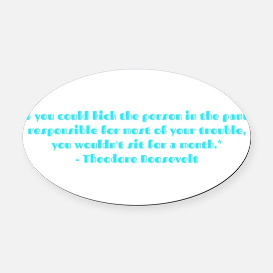 Responsible for trouble Oval Car Magnet