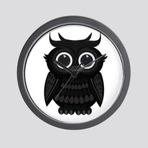 Black Owl Wall Clock