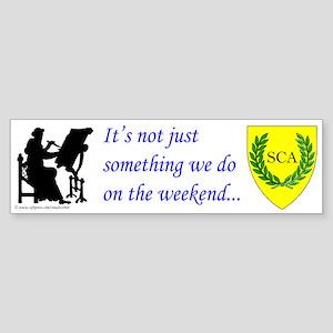 Not Just Scribal Arts Bumper Sticker