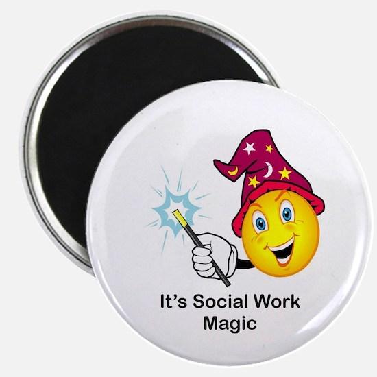 """Social Work Magic 2.25"""" Magnet (10 pack)"""