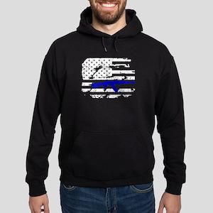 AK 47 Shirt Hoodie (dark)