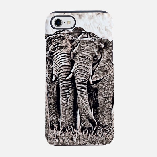 Rustic Style -Elephants iPhone 8/7 Tough Case