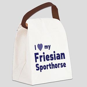 Friesian Sporthorse Canvas Lunch Bag
