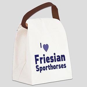 Friesian Sporthorses Canvas Lunch Bag
