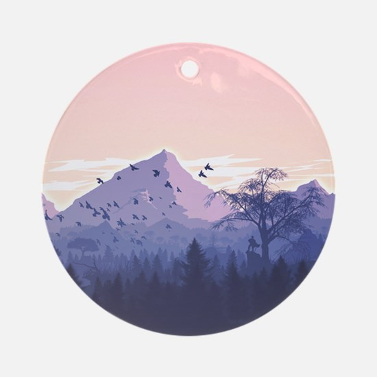 mountains m87y Round Ornament