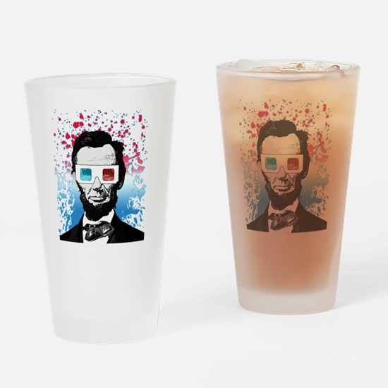 Abraham Lincoln - 3D Drinking Glass