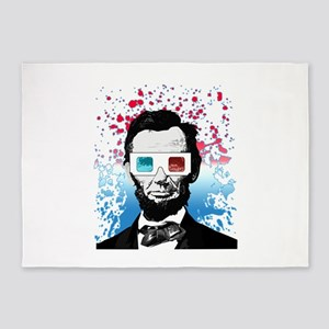 Abraham Lincoln - 3D 5'x7'Area Rug