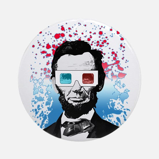 Abraham Lincoln - 3D Round Ornament