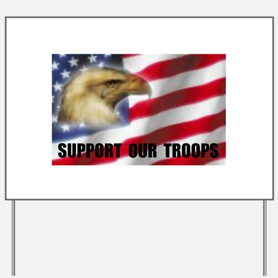 FIGHTING SOLDIER Yard Sign