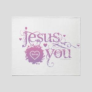 Jesus Loves You Throw Blanket