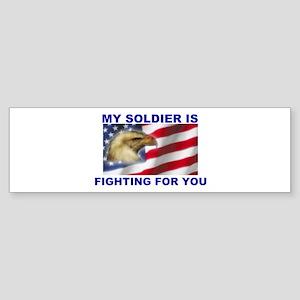 FIGHTING SOLDIER Bumper Sticker