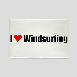 I love windsurfing Rectangle Magnet