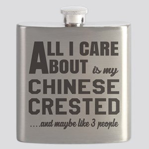 All I care about is my Chinese Crested Dog Flask