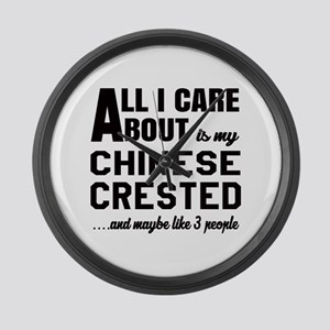 All I care about is my Chinese Cr Large Wall Clock