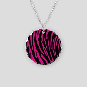 Pink Tiger Stripes Necklace