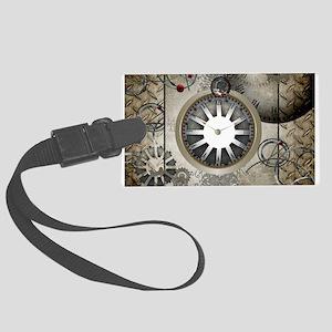 Steampunk, clocks and gears Luggage Tag