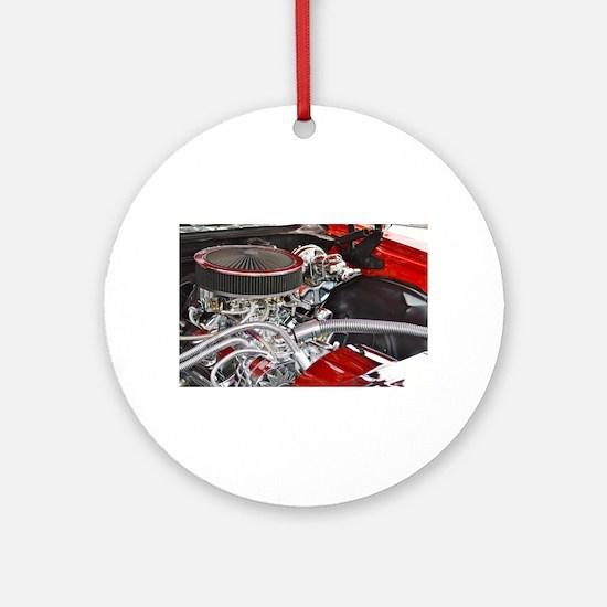 car engine Round Ornament