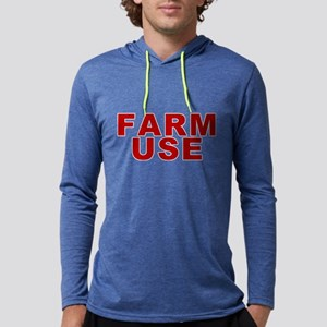 Farm Use Mens Hooded Shirt Long Sleeve T-Shirt