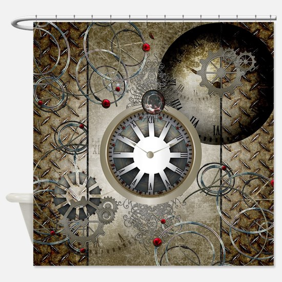 Steampunk, clocks and gears Shower Curtain