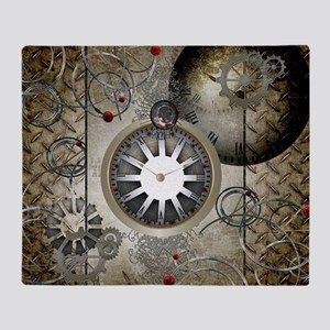 Steampunk, clocks and gears Throw Blanket